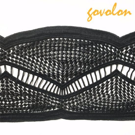 Black Hollow Cotton Lace Trims