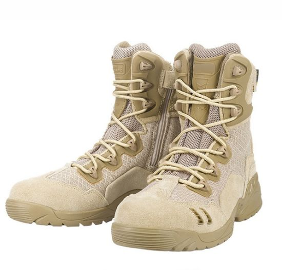 Army Outdoor Military Ankle Boots Tactical Cordura Desert Combat Army High Top Shoes