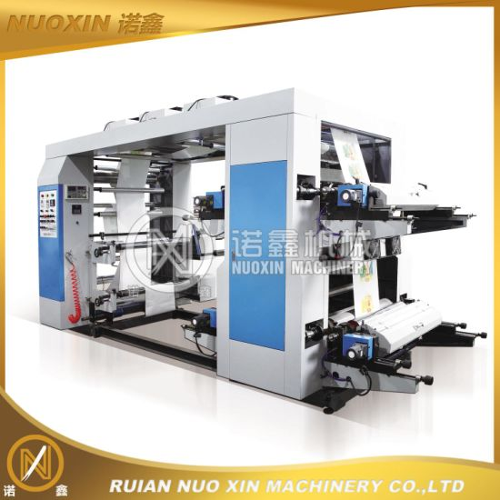 Four Colour Plastic Bag Flexographic Printing Machine pictures & photos