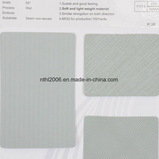 Nantong Factory PU Space Leather pictures & photos