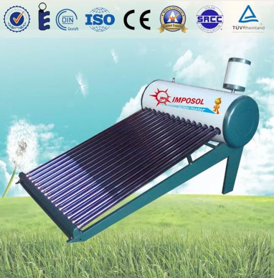 Cheap Price High Quality Vacuum Tube Solar Hot Water Heater pictures & photos