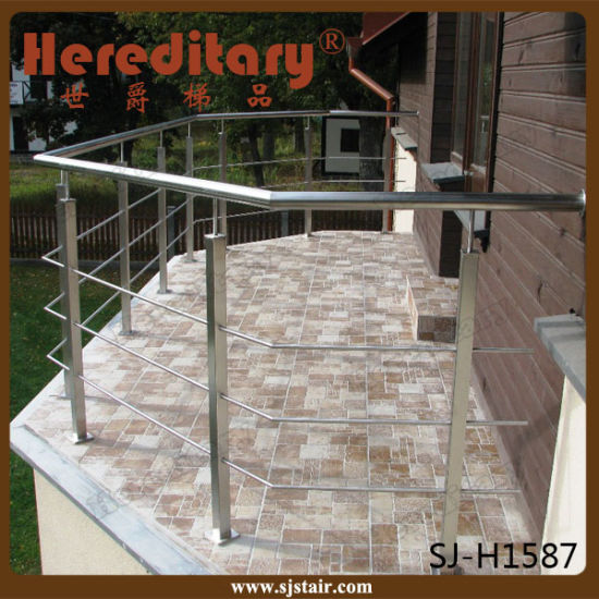 Outdoor Wire Rope 304 Stainless Steel Balcony Baluster (SJ-S051) pictures & photos