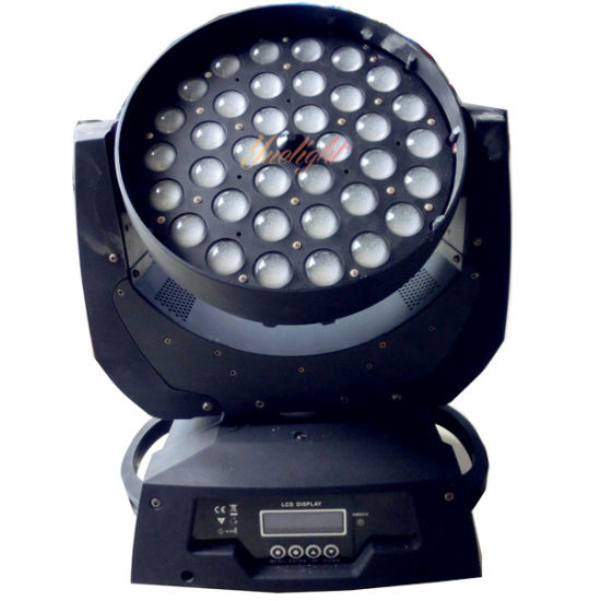 Guangzhou PRO 36X10W 4in 1 RGBW CREE LED Zoom Moving Head Wash Disco Light pictures & photos