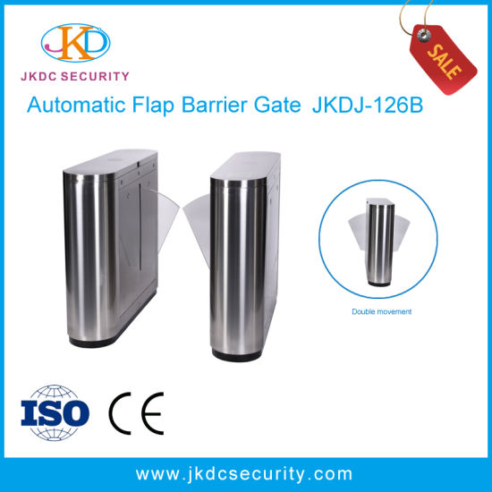 Stainless Steel Automatic Flap Barrier Gate Turnstile with Access Control pictures & photos