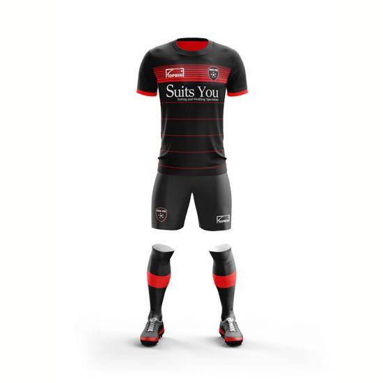 Custom Sportswear Sublimation Soccer Uniform Team Football Shirt Soccer Jersey