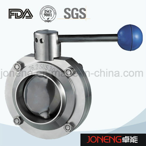 Stainless Steel Pull Handle Welded Sanitary Butterfly Valve (JN-BV3001) pictures & photos
