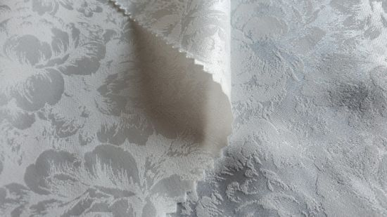 5075 Polyester Spandex Weft Stretch Jacquard Satin Fabric for Garment