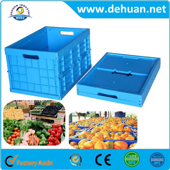 Blue Color Popular Plastic Storage Turnover Box pictures & photos