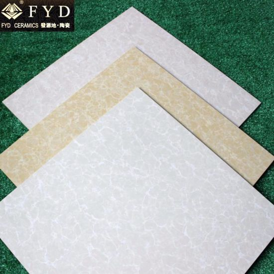 600*600 Pulati Yellow Polished Porcelain Floor Wall Tile Fp6003 pictures & photos