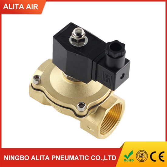 Nikou Water Valve 1//2 Solenoid Valve 220V AC Water Valve Normally Closed Brass Electric Solenoid Magnetic Valve For Water Control