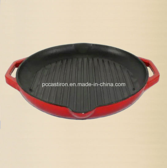 Round Cast Iron Griddle for Steak pictures & photos
