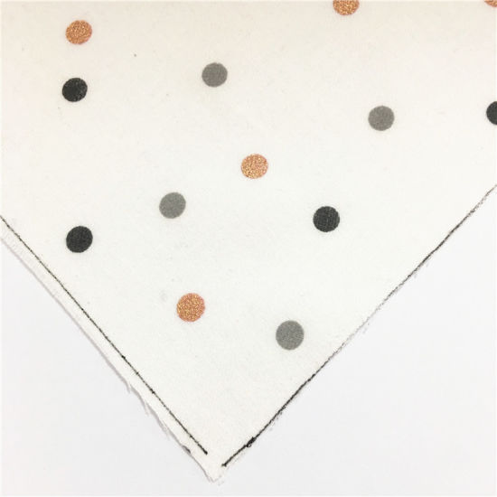 Polyester Cotton T/C Terry Rayon White Spot Tr Fabric for Clothes