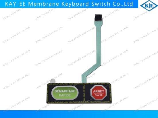 Gradient Printing Two Push Buttons Membrane Keypad Switch with 3m Adhesive