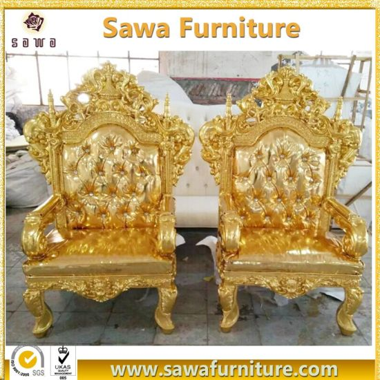 Commercial Use Antique Gold King Throne Chair for Sale - China Commercial Use Antique Gold King Throne Chair For Sale - China