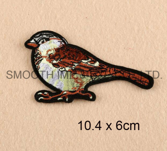 Promotion Fashion Logo 3D Bird Embroidered Patches for Caps Badge pictures & photos
