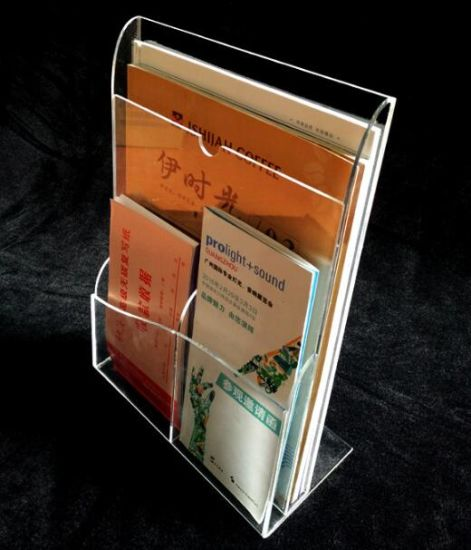 Wholesale Clear Acrylic Shelf for Magazines pictures & photos