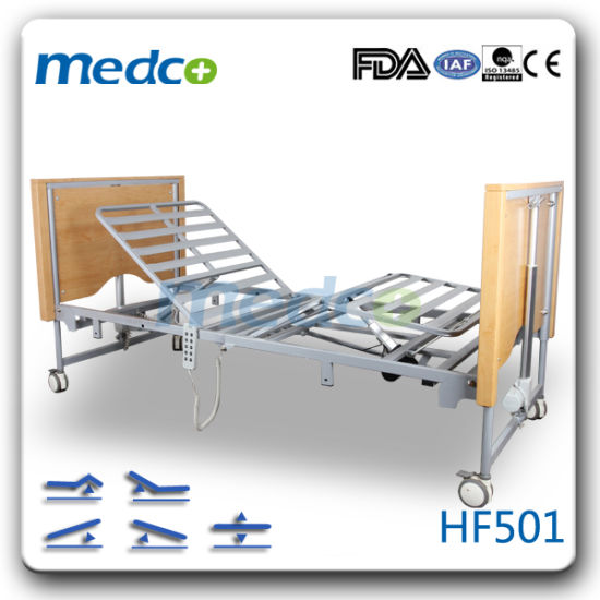 Electric 5 Function Folded Home Care Nursing Bed