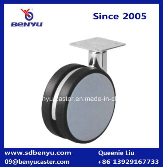 3 Inch Non-Hooded Twin Wheel Caster for Hospital Bed