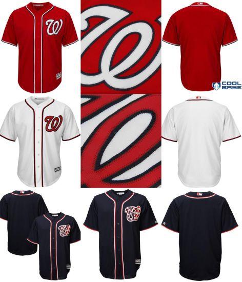 08aa5a7f8 China Customized Washington Nationals Cool Base Baseball Jerseys ...