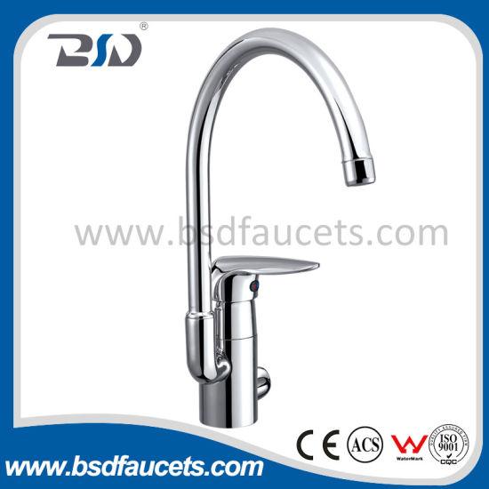China High Neck Ceramic Cartridge Sink Mixer Brass Kitchen Faucet