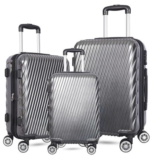 Hot Sale 3 Piece Set ABS/PC Trolley Travel Hard Shell Luggage pictures & photos