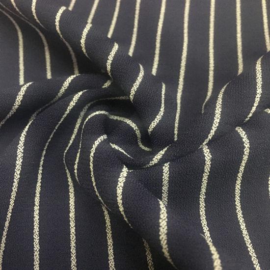 96/4 Polyester Spandex Stripe Fabric 230GSM