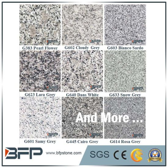 China Grey Granite Paving Stone - Meshed Cobble Stone for Exterior pictures & photos