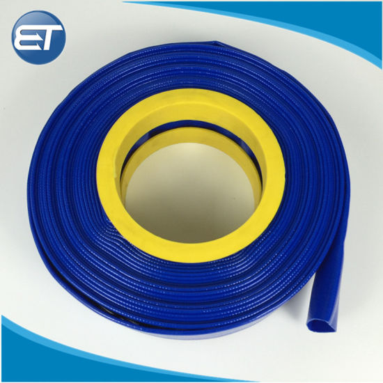 """Red 2/"""" x 50/' Camlock Lay Flat PVC Discharge Hose with Quick Connect Fittings"""