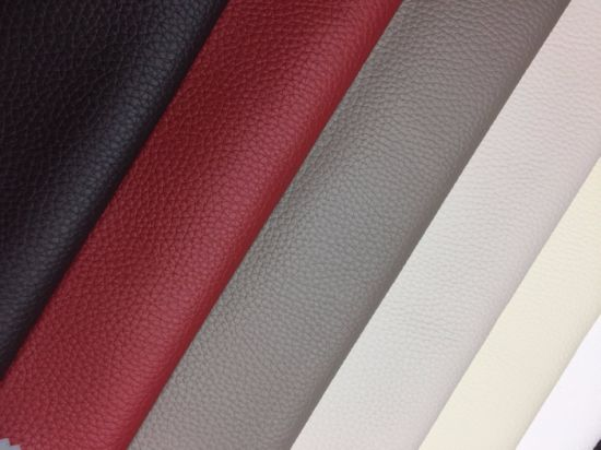PVC PU Leather of Embossed Faux Synthetic Leather Furniture Leather for Sofa