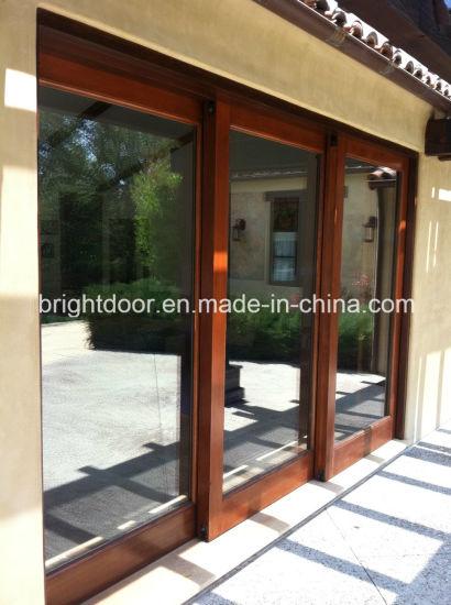 China Aluminum Door Profile 3 Paneltriple Sliding Glass Door