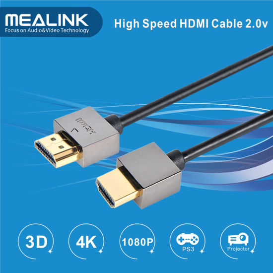 Slim HDMI 2.0V Cable (4K, Ethernet, YLS01) pictures & photos