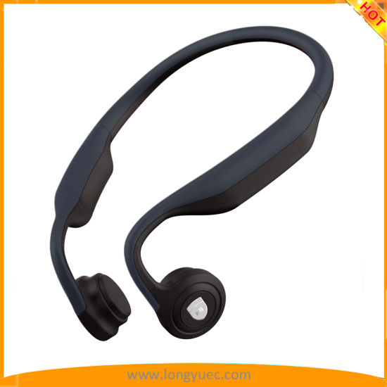 ea936a749dd Bone Conduction Headphone Wireless Bluetooth Stereo Headset Over Ear  Sweatproof Earphone with Microphone for Sports (ink-blue)
