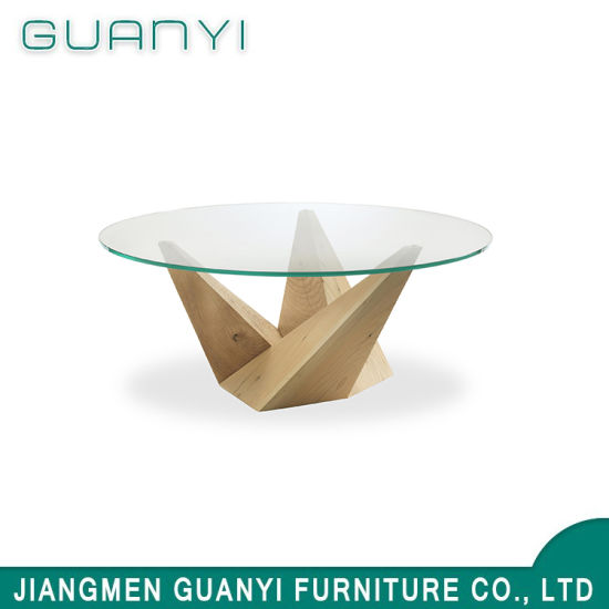 China 2019 Gl Round Wooden Dining Sets Restaurant Table