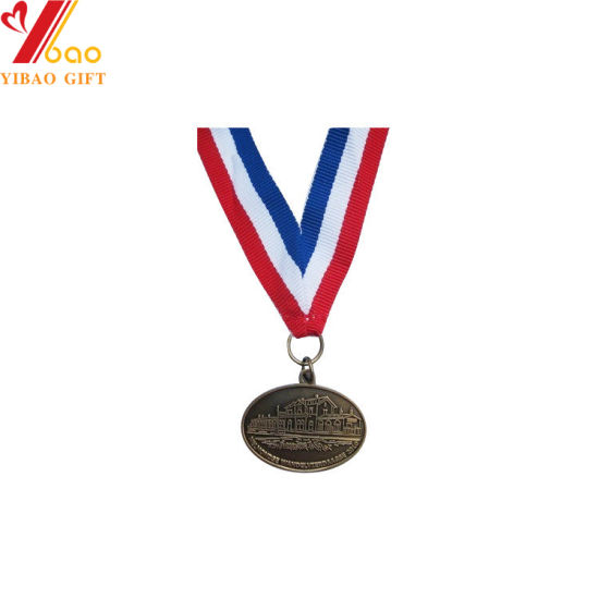 Custom Logo Sports Medal with Printing V Shape Ribbon (YB-MD-12) pictures & photos