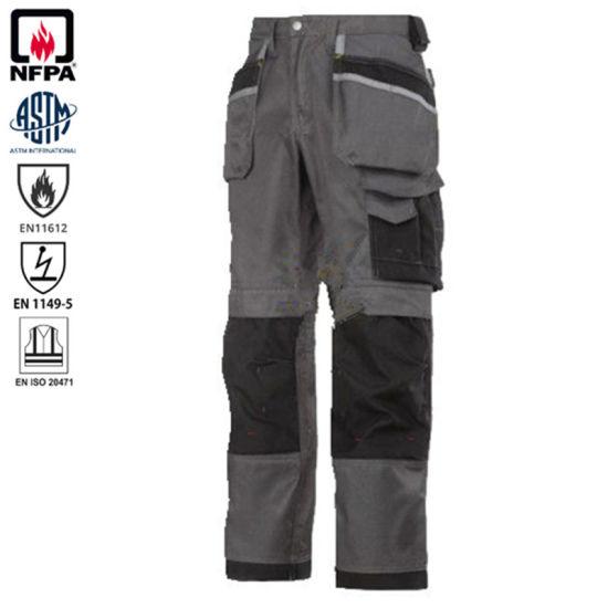 Twill Workwear Static-Free Flame Retardant Men Work Safety Cargo Pant