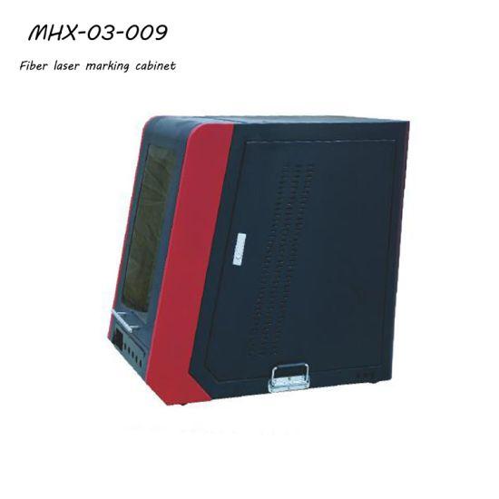 Desk Style Fiber Laser Marking Cabinet with Pneumatic Door