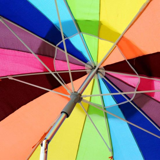 Custom Colorful hot air balloons Compact Travel Windproof Rainproof Foldable Umbrella