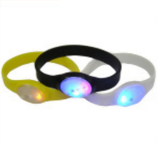 Customized LED Silicone Wrisband and Rubber Bracelet (YB-HD-117)