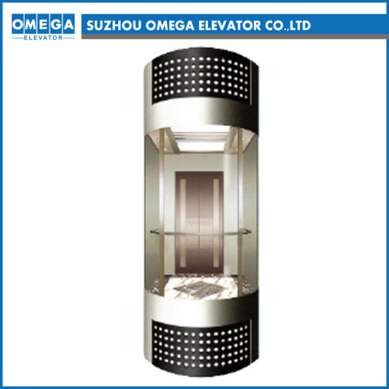 Home Round Semicircular Observation Elevator with Three Sides Panoramic Lift