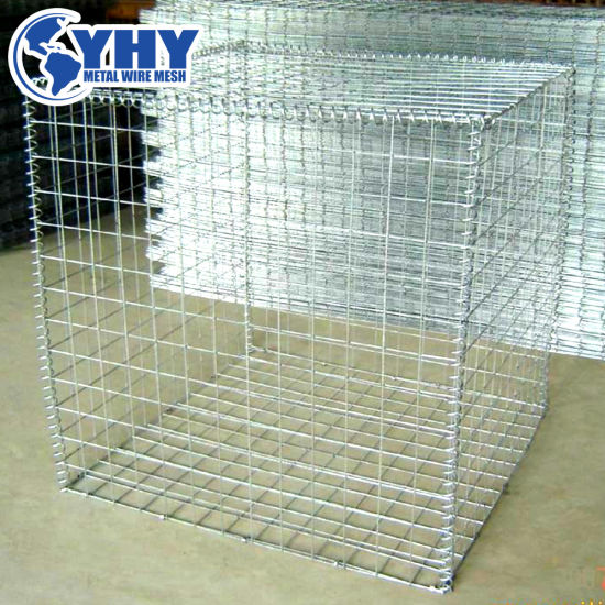 China 2x2 Galvanized Lowes Welded Iron Wire Mesh Stone Gabion