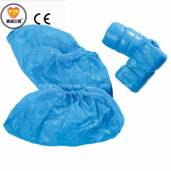 Medical Supply Disposable Waterproof Overshoes Plastic Surgical Shoe Cover
