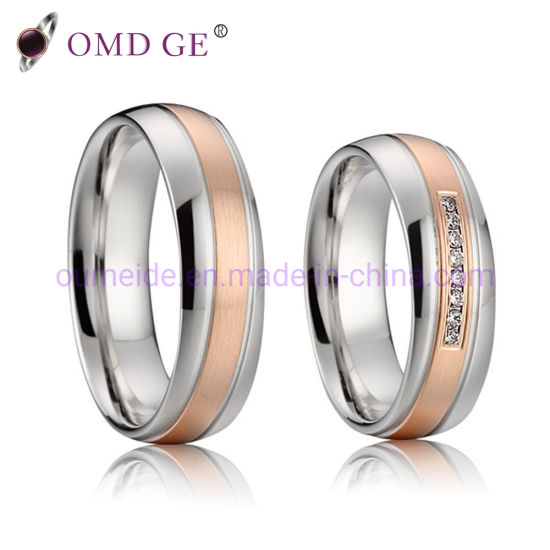 Wedding Rings Cheap.China Cheap Rose Gold Jewelry Stainless Steel Wedding Ring China