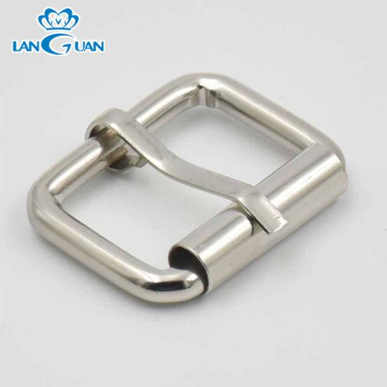 Wholesale Sliver Metal Single Flat Pin Roller Buckle Belt