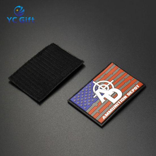 Customized Heat Transfer Garment Accessories PVC Patch fashion 3D Rubber Decorative Woven Cloth Label Printing Key Tags Uniform Badge (PT39)