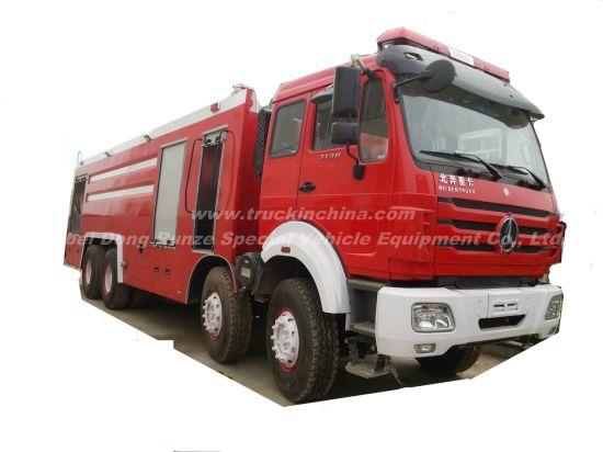 Beiben 3138 8X4 Water Foam Fire Truck, Water Tank 9000L, Foam Tank 2660L Optional All Wheel Drive Offroad 8X8 LHD. Rhd)