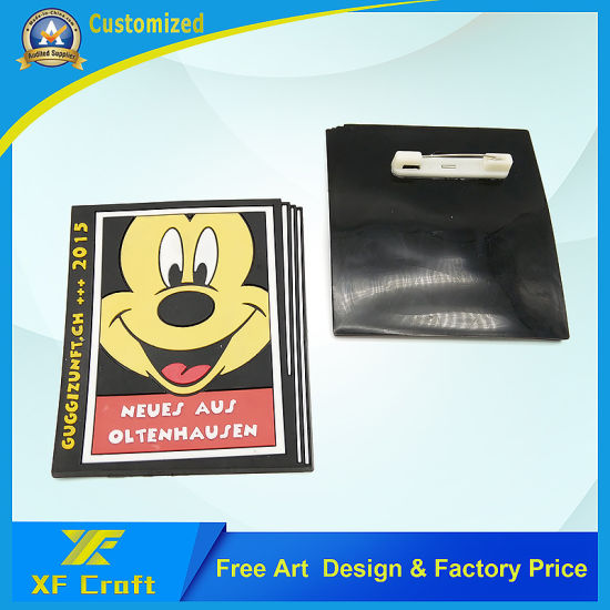 Manufacturer Custom PVC Rubber Cartoon Pin Badge for Promotion (BG-P01) pictures & photos
