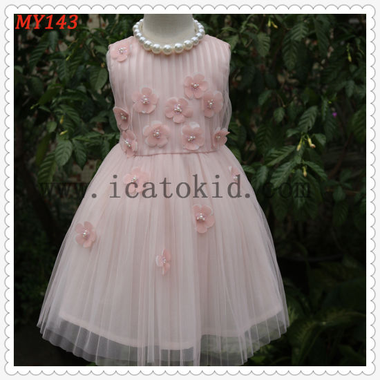 91b66d078 China Frock Baby Embroidery Pink Little Flower Girls Dress for Party ...