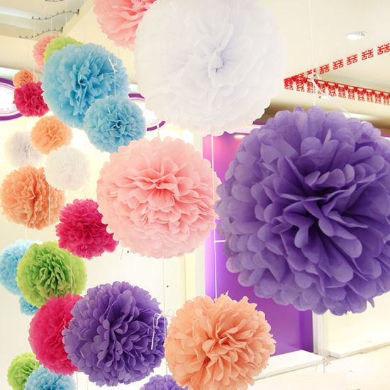 multi color wedding party decorations 20 tissue paper pom poms