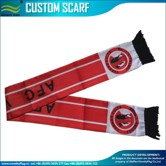 Silk Satin Fan Scarf for Football Club (B-NF19F10003) pictures & photos