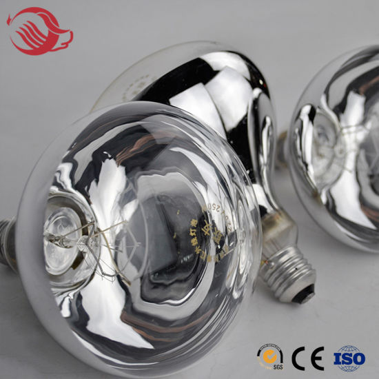 Farm Frosted Surface / Smooth Surface Infrared Heating Lamp Bulb for Chickens Pig Goat Farm pictures & photos